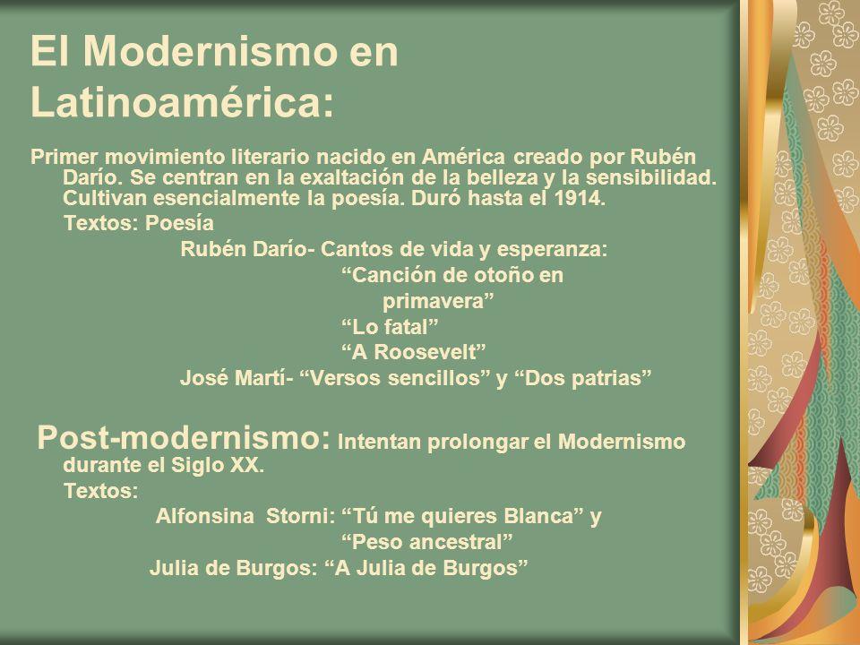 El Modernismo en Latinoamérica:
