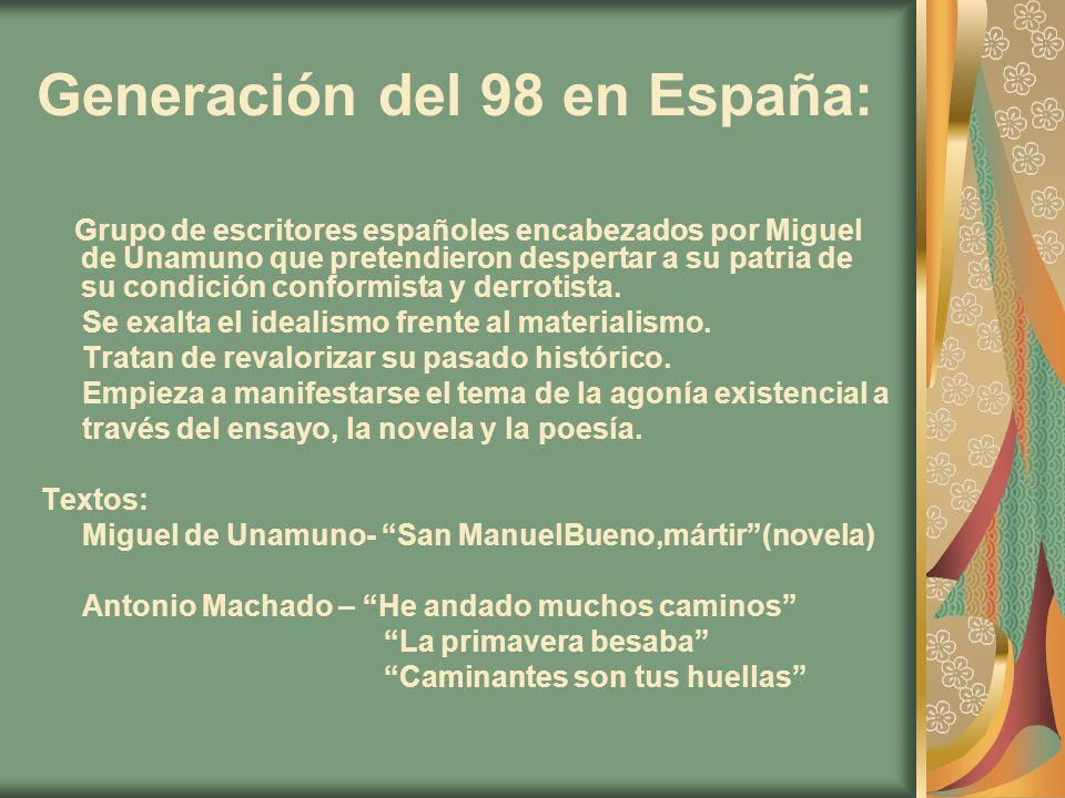 Generación del 98 en España: