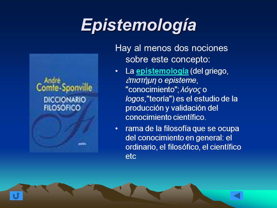 investigacion epistemologia