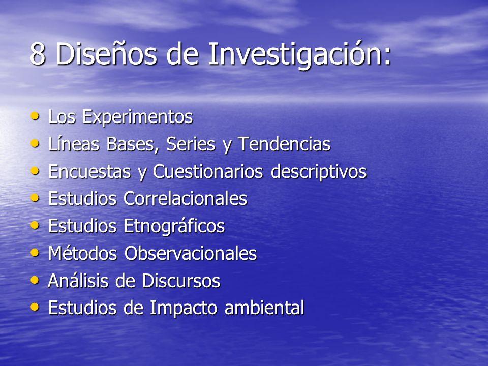8 Diseños de Investigación: