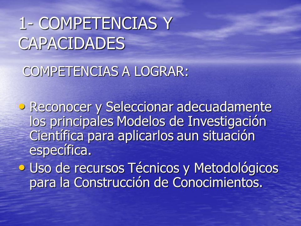 1- COMPETENCIAS Y CAPACIDADES
