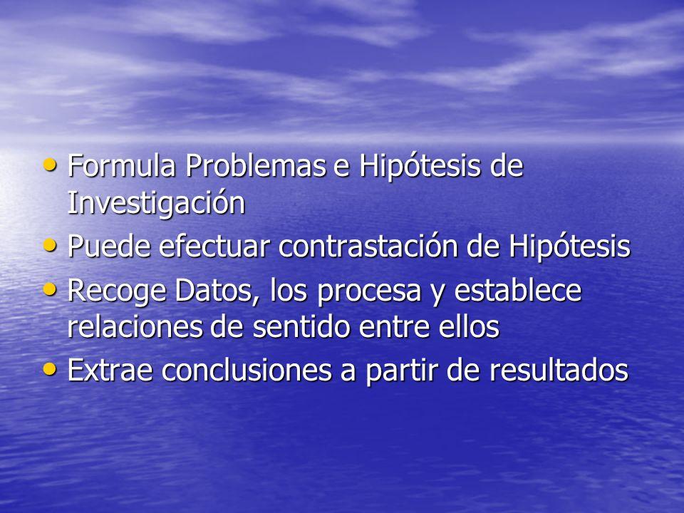 Formula Problemas e Hipótesis de Investigación