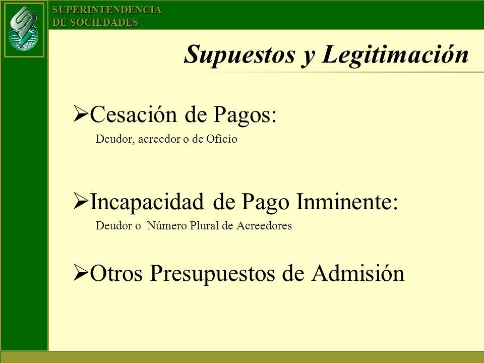 Supuestos y Legitimación