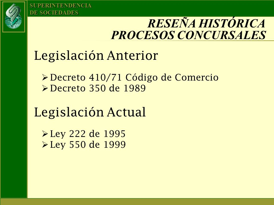 RESEÑA HISTÓRICA PROCESOS CONCURSALES
