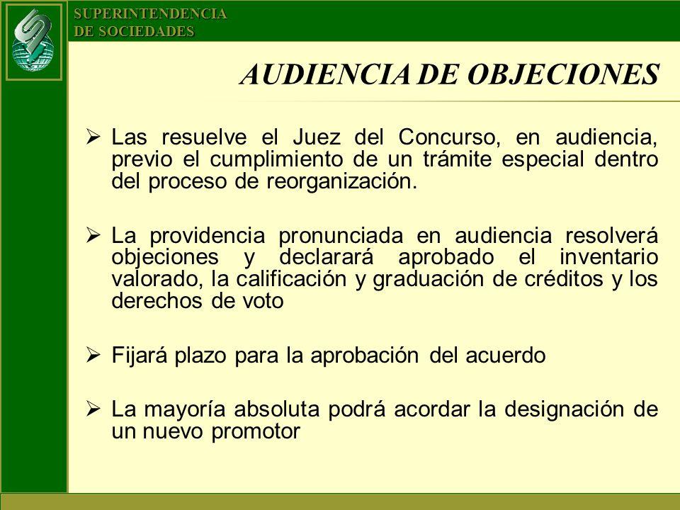 AUDIENCIA DE OBJECIONES