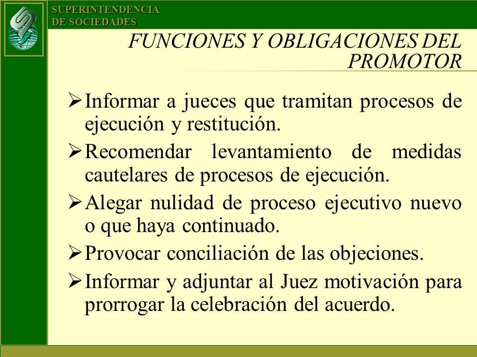 FUNCIONES Y OBLIGACIONES DEL PROMOTOR