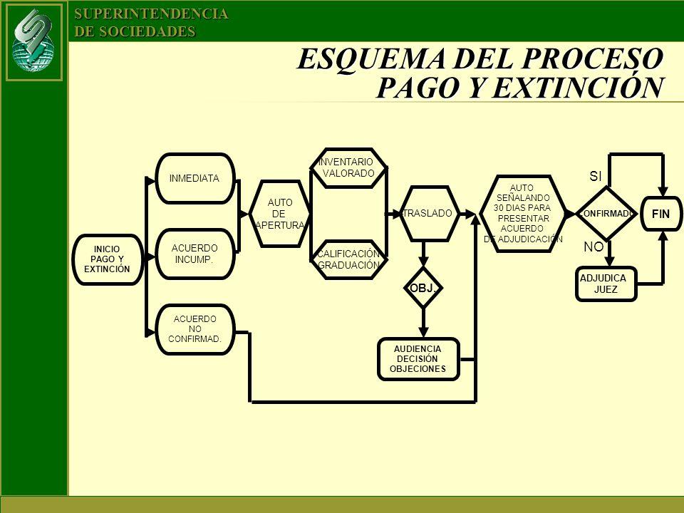 ESQUEMA DEL PROCESO PAGO Y EXTINCIÓN