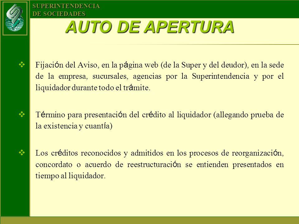 AUTO DE APERTURA