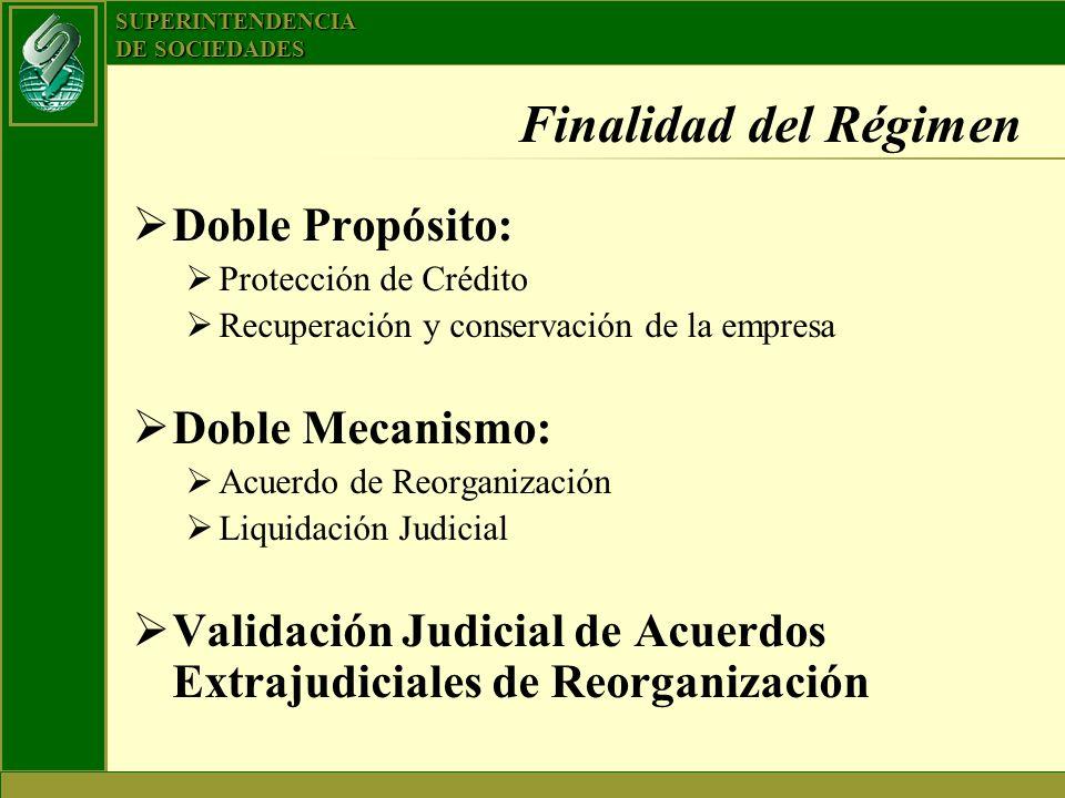 Finalidad del Régimen Doble Propósito: Doble Mecanismo: