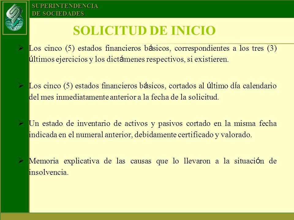 SOLICITUD DE INICIO