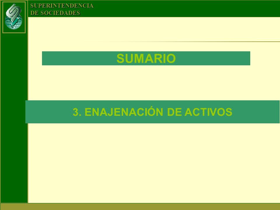 3. ENAJENACIÓN DE ACTIVOS