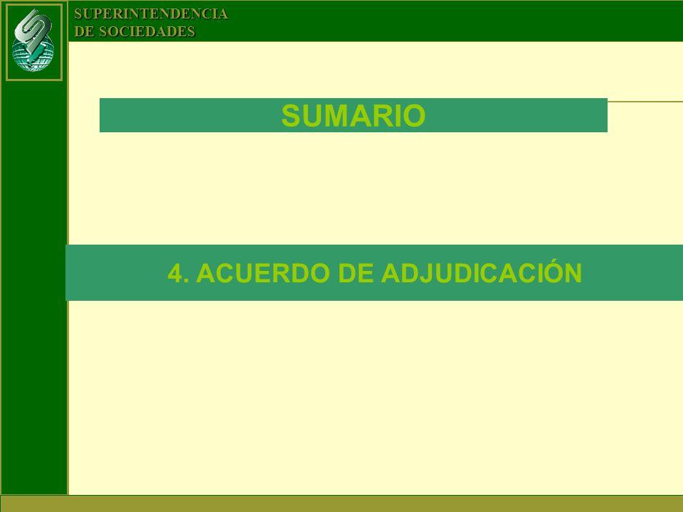 4. ACUERDO DE ADJUDICACIÓN
