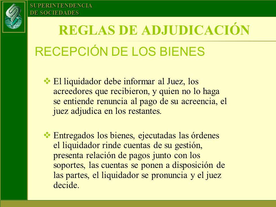 REGLAS DE ADJUDICACIÓN