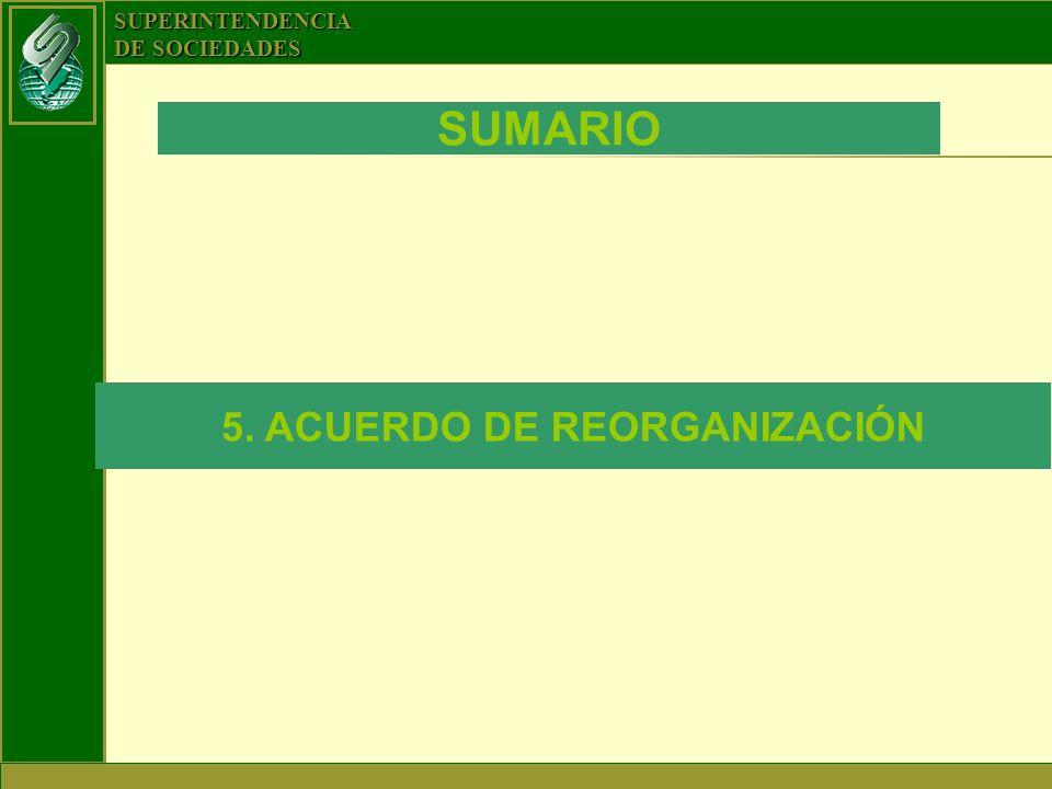 5. ACUERDO DE REORGANIZACIÓN