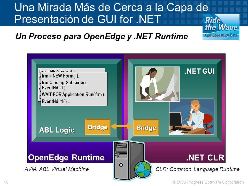 Una Mirada Más de Cerca a la Capa de Presentación de GUI for .NET