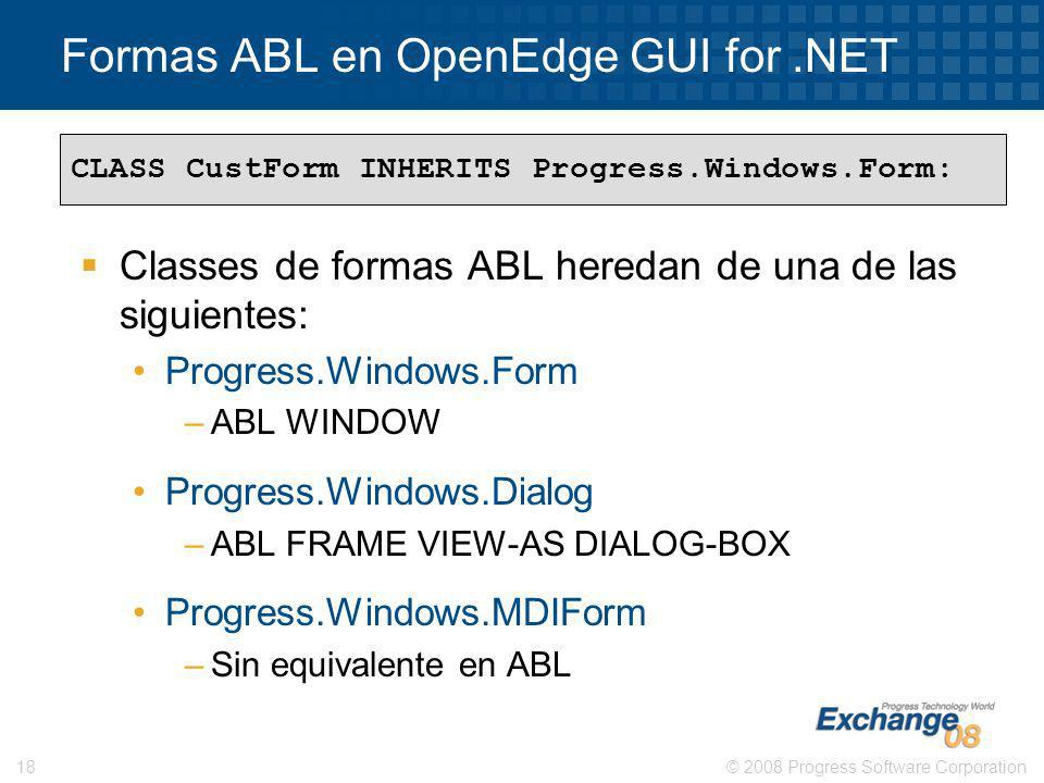Formas ABL en OpenEdge GUI for .NET