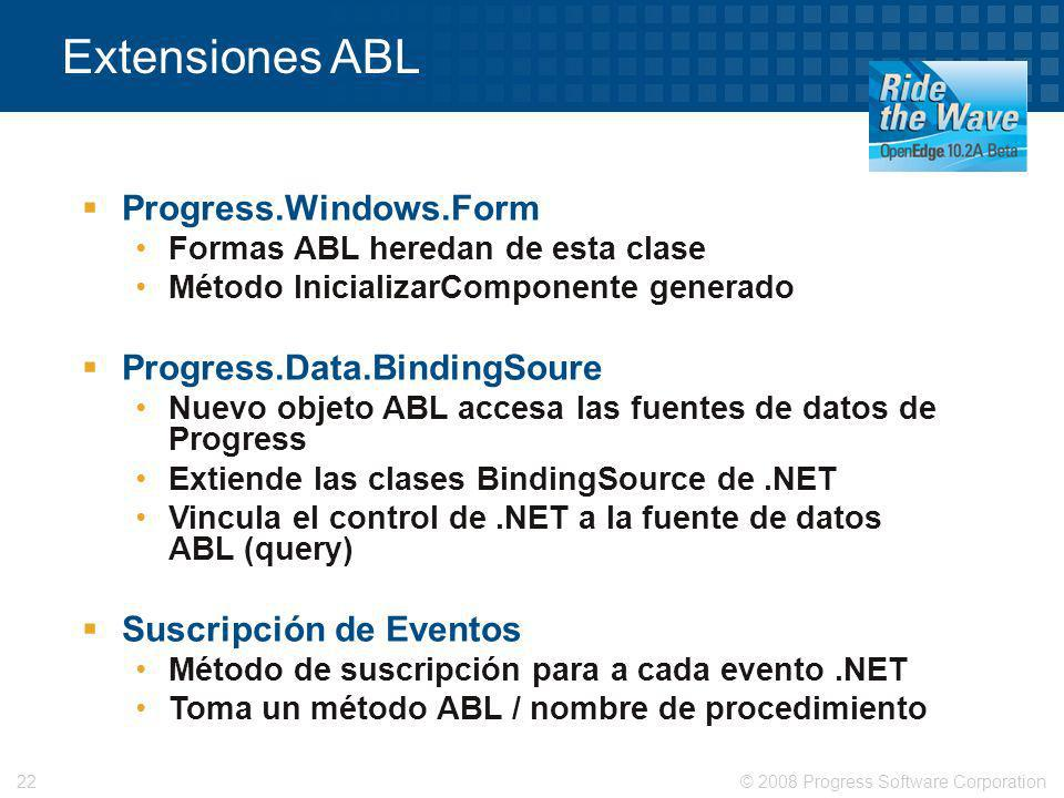 Extensiones ABL Progress.Windows.Form Progress.Data.BindingSoure
