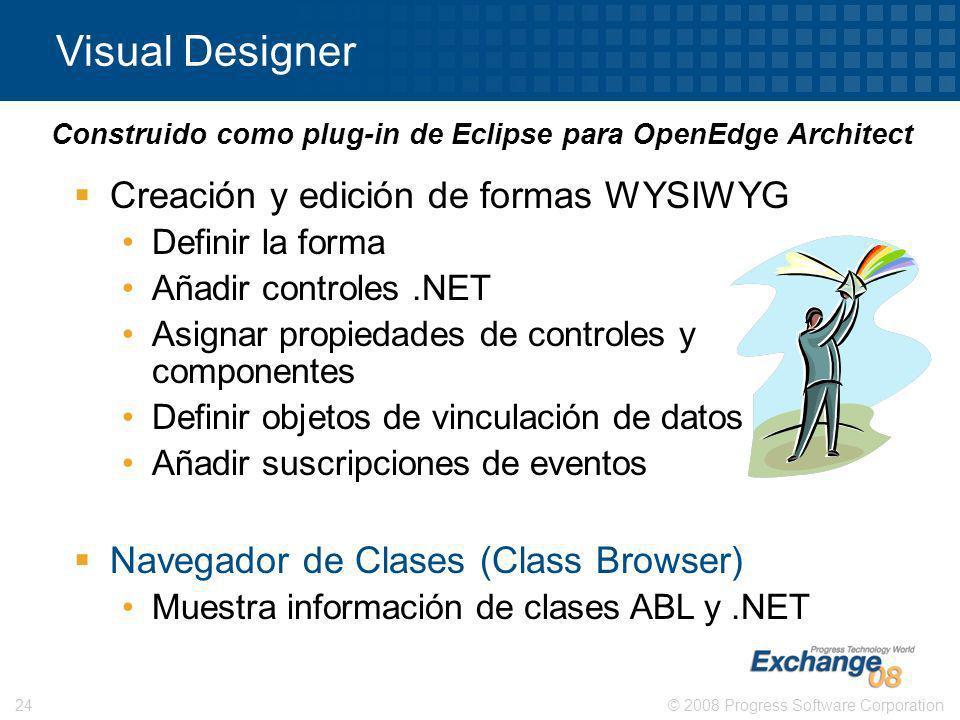 Visual Designer Creación y edición de formas WYSIWYG