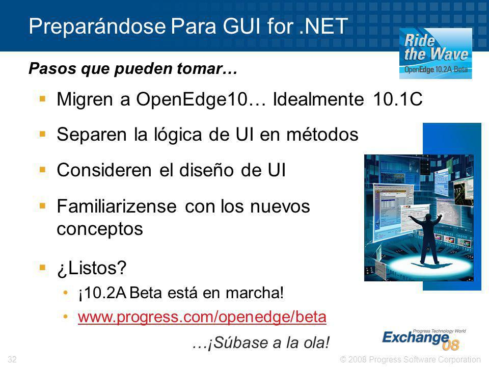 Preparándose Para GUI for .NET