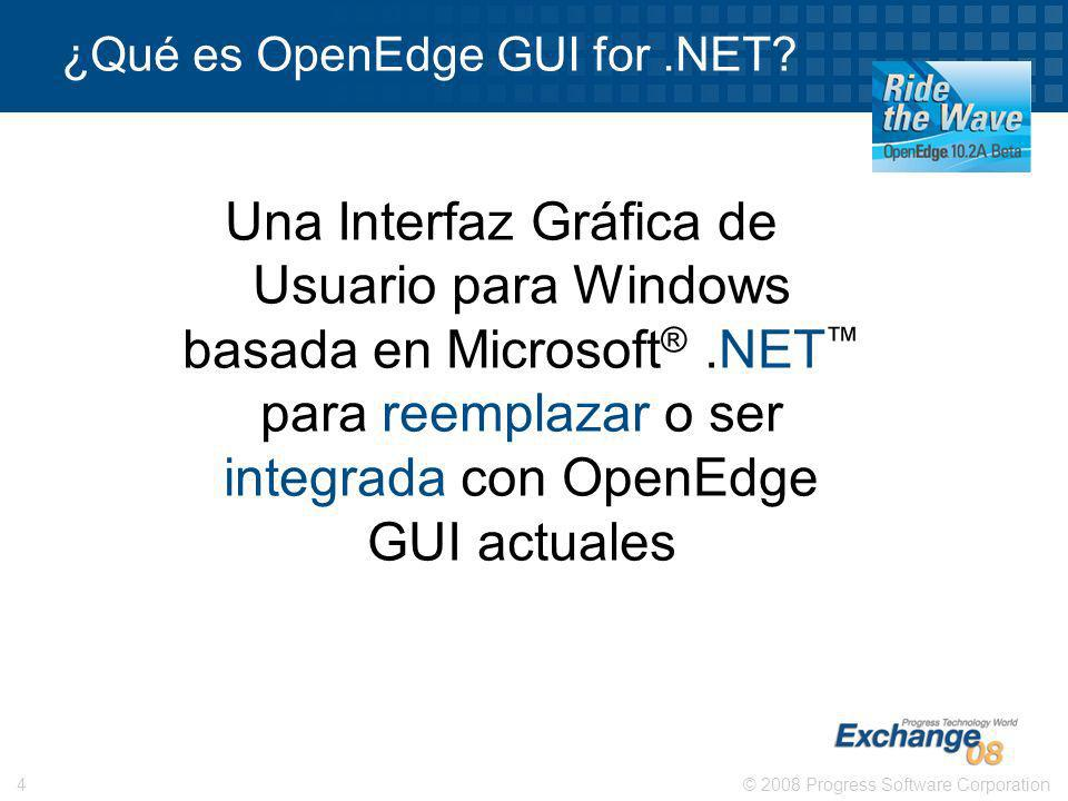 ¿Qué es OpenEdge GUI for .NET