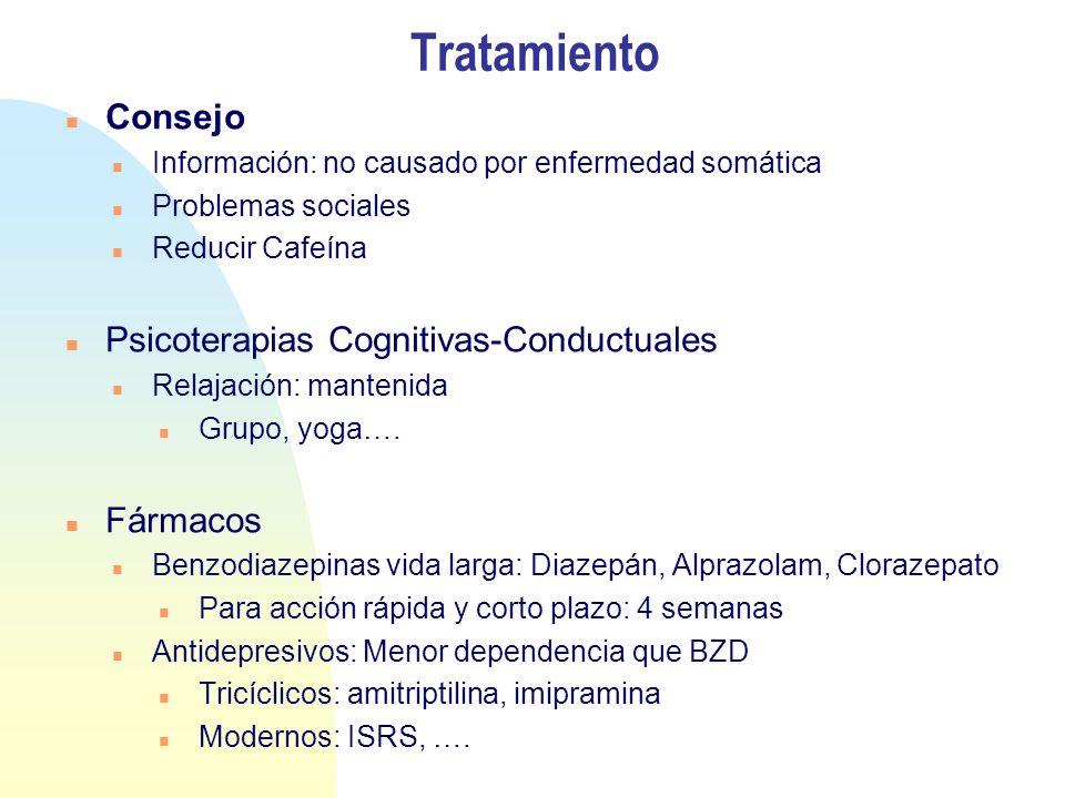 Tratamiento Consejo Psicoterapias Cognitivas-Conductuales Fármacos