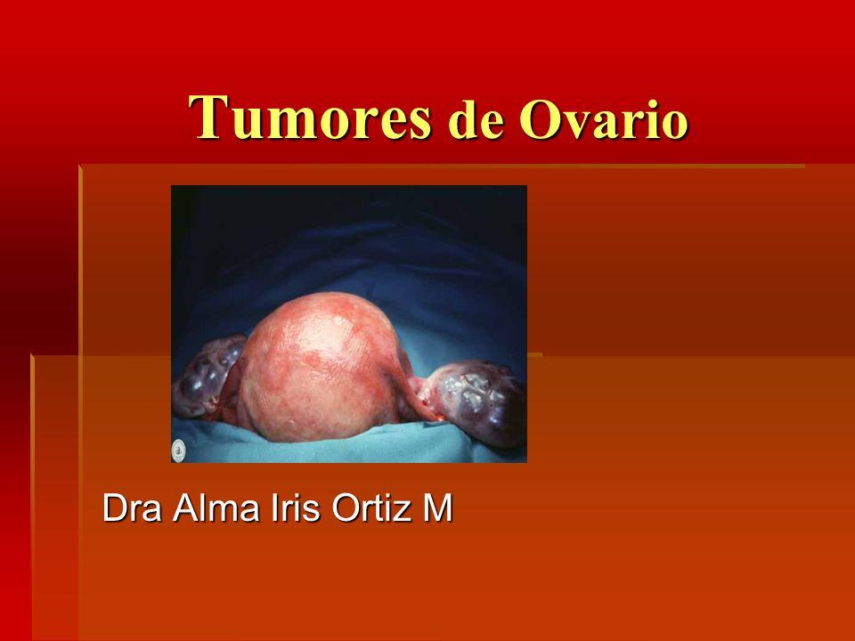 Tumores de Ovario Dra Alma Iris Ortiz M