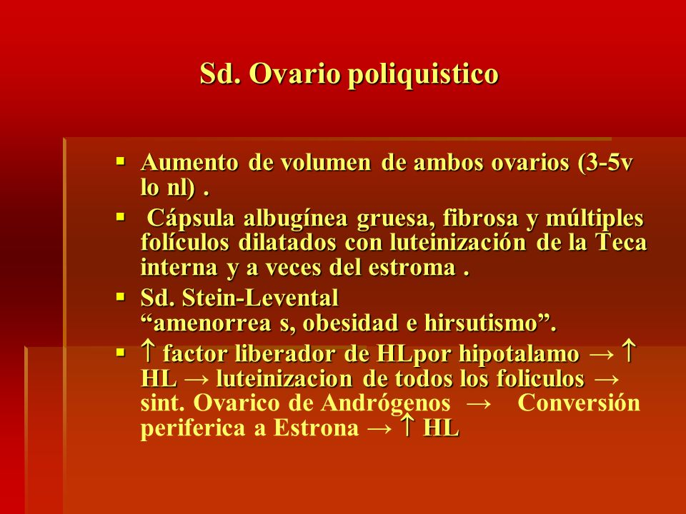 Sd. Ovario poliquistico