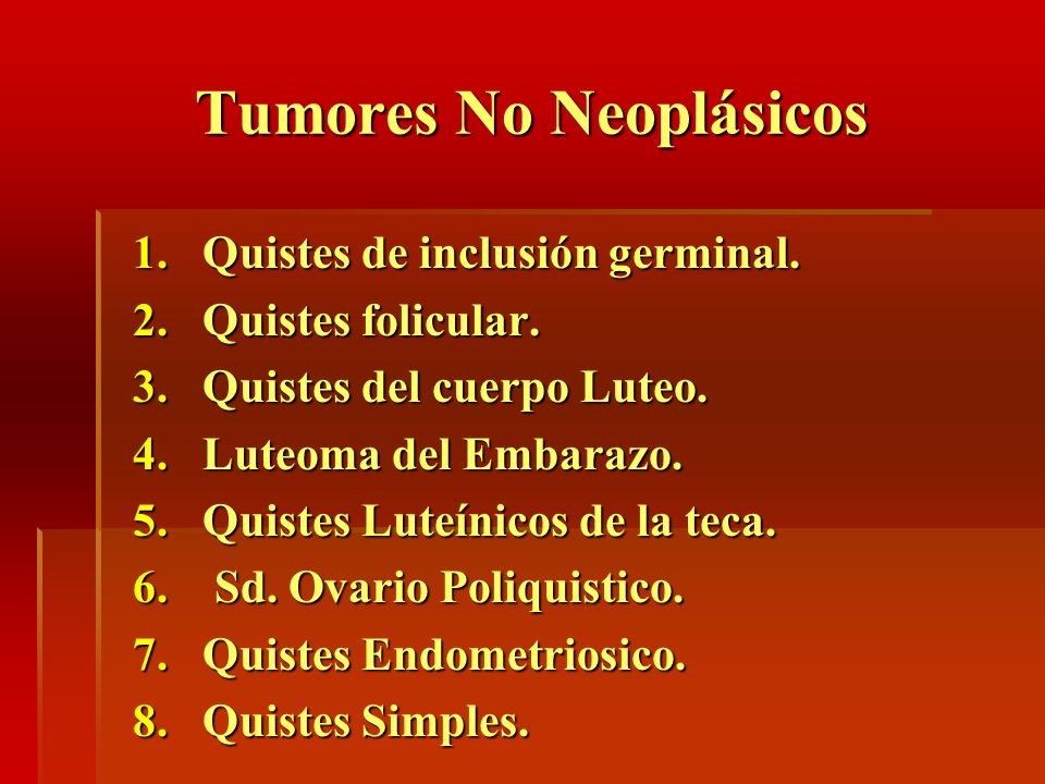 Tumores No Neoplásicos