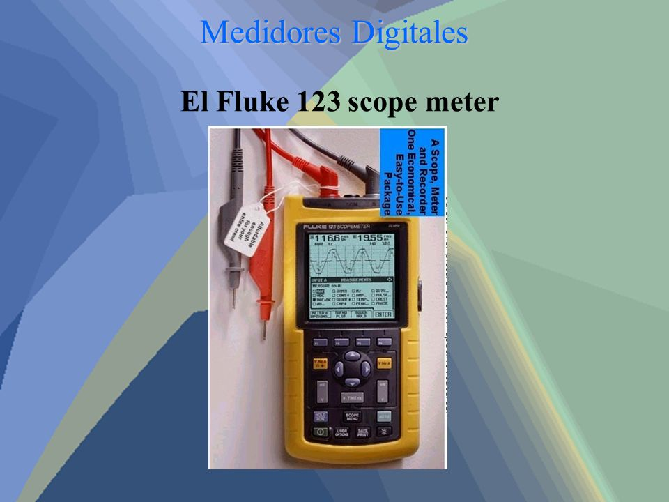 Medidores Digitales El Fluke 123 scope meter