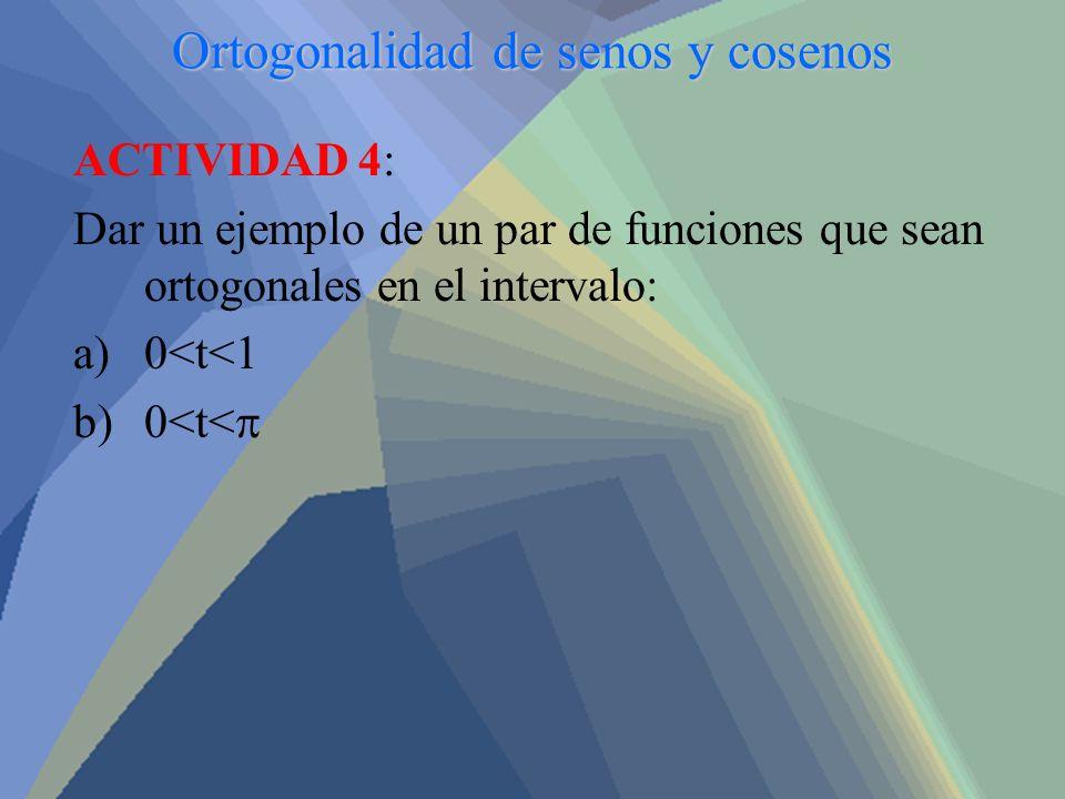 Ortogonalidad de senos y cosenos