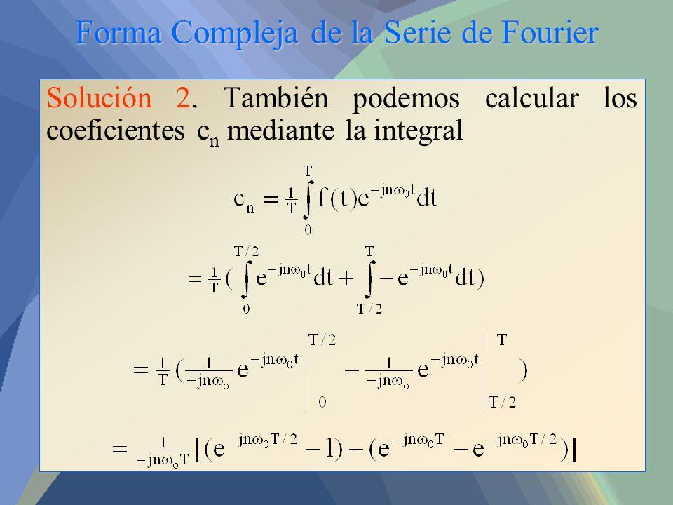 Forma Compleja de la Serie de Fourier