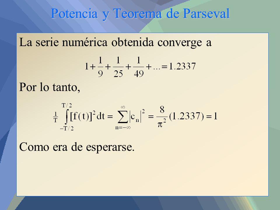 Potencia y Teorema de Parseval
