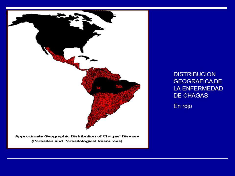 DISTRIBUCION GEOGRAFICA DE LA ENFERMEDAD DE CHAGAS