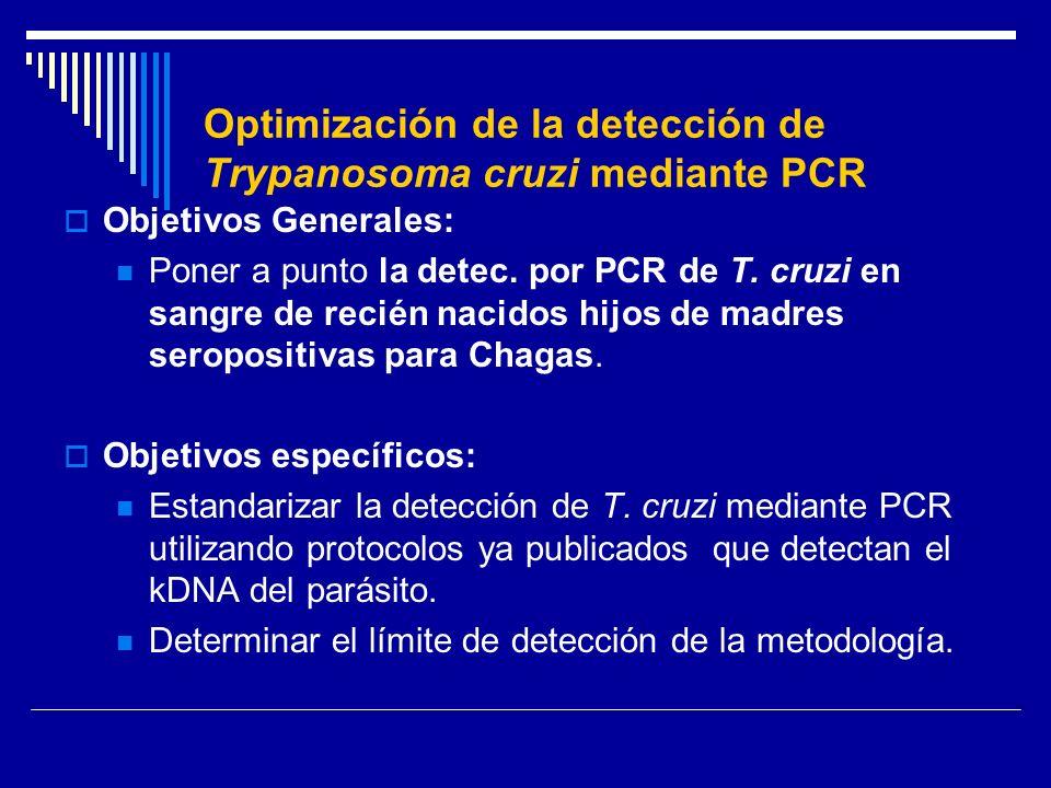 Optimización de la detección de Trypanosoma cruzi mediante PCR