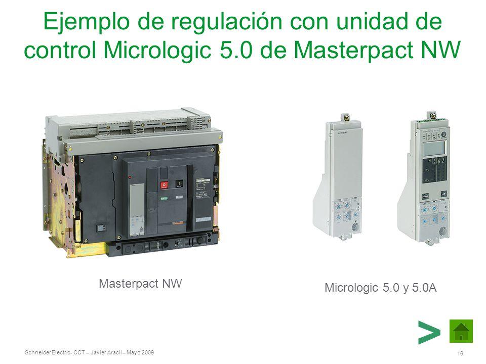 Ejemplo de regulación con unidad de control Micrologic 5