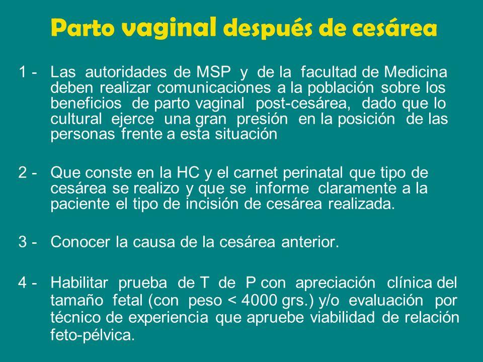 Parto vaginal después de cesárea