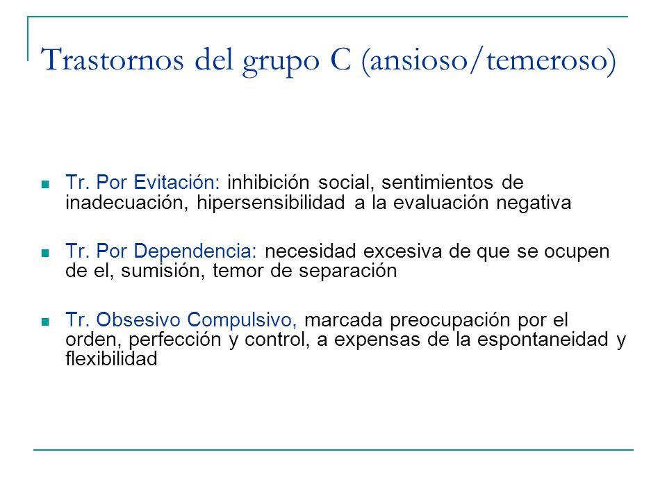 Trastornos del grupo C (ansioso/temeroso)