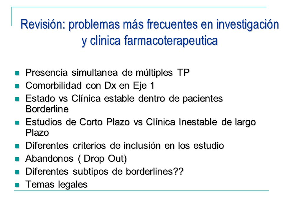 Revisión: problemas más frecuentes en investigación y clínica farmacoterapeutica