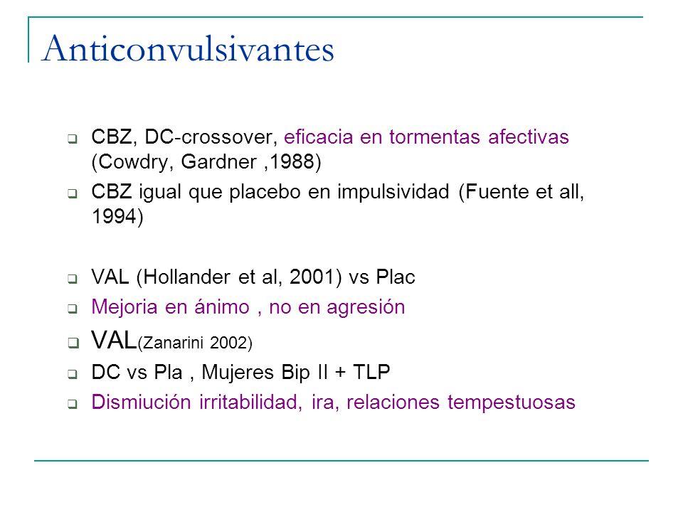 Anticonvulsivantes VAL(Zanarini 2002)