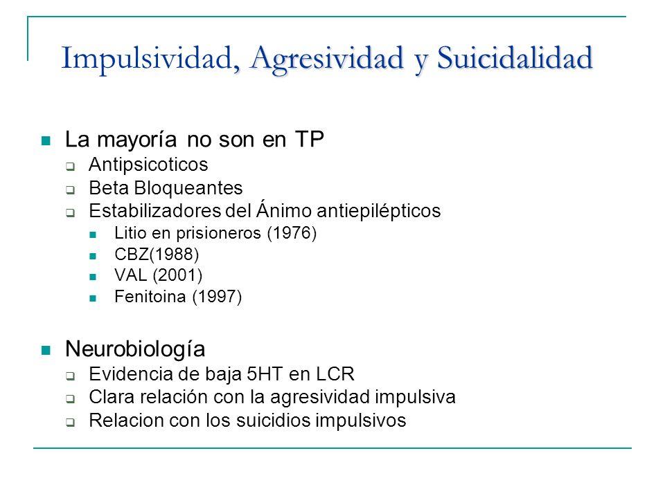 Impulsividad, Agresividad y Suicidalidad