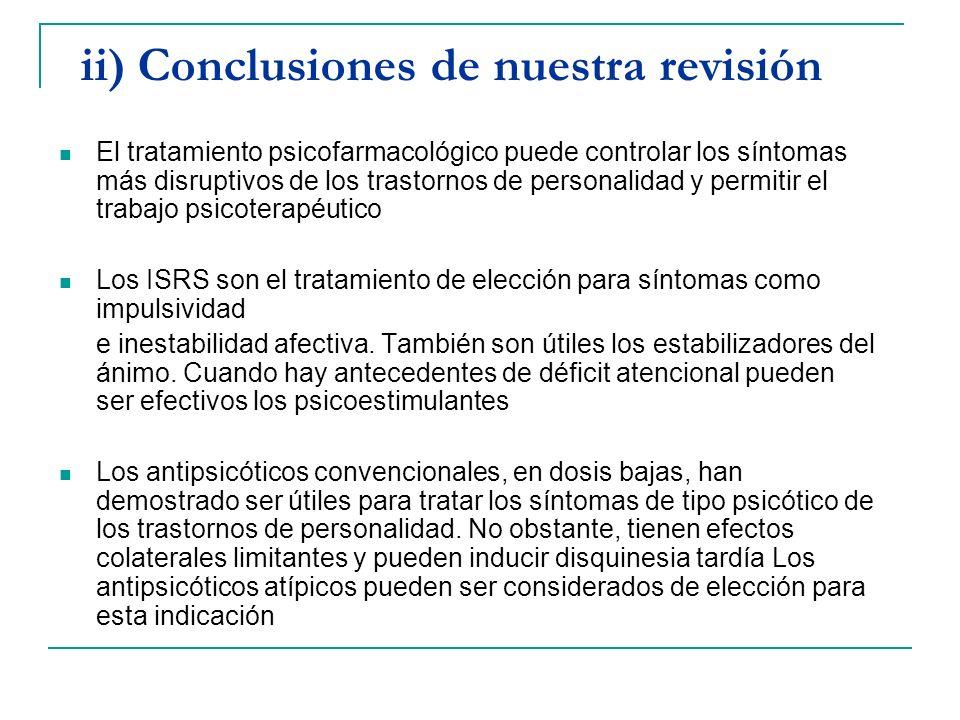 ii) Conclusiones de nuestra revisión