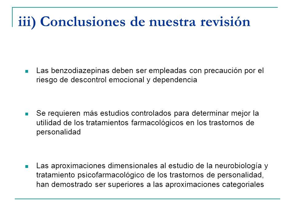 iii) Conclusiones de nuestra revisión