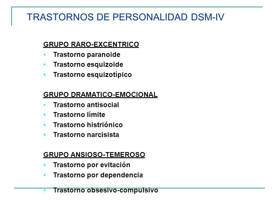 TRASTORNOS DE PERSONALIDAD DSM-IV