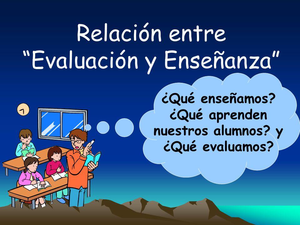 ¿Qué enseñamos ¿Qué aprenden nuestros alumnos y ¿Qué evaluamos