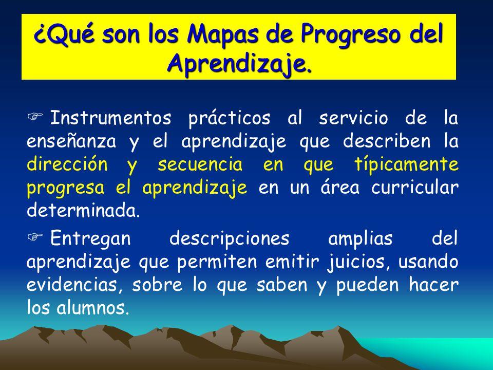 ¿Qué son los Mapas de Progreso del Aprendizaje.