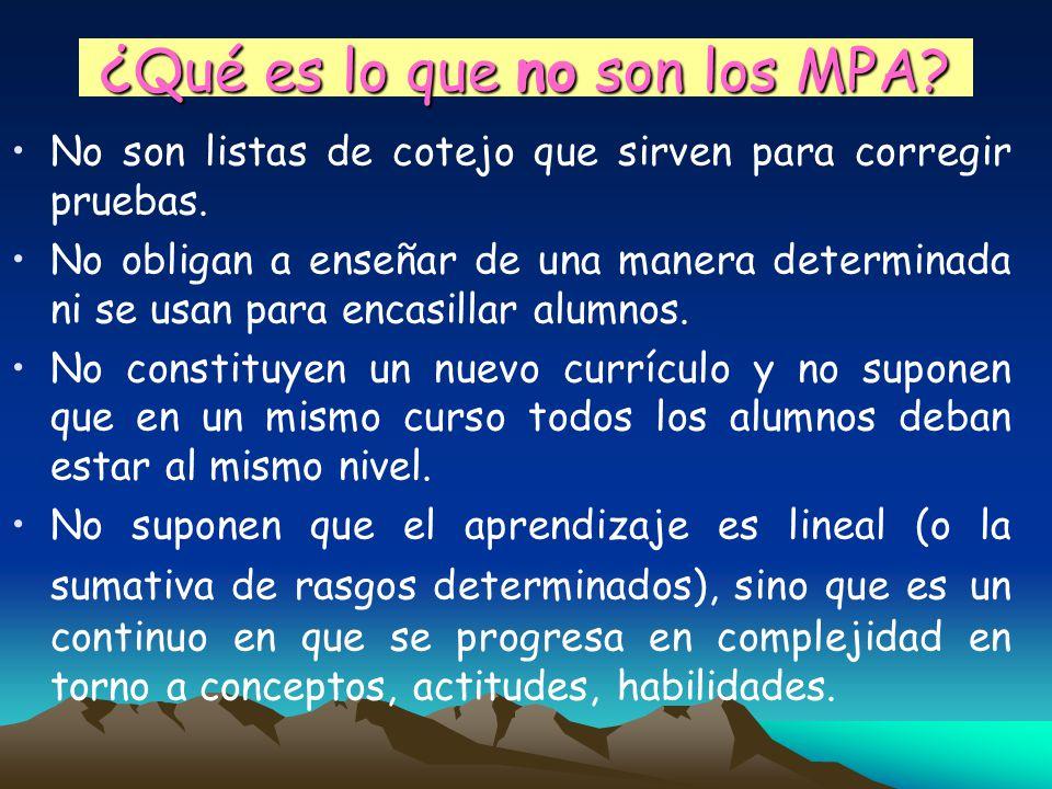 ¿Qué es lo que no son los MPA