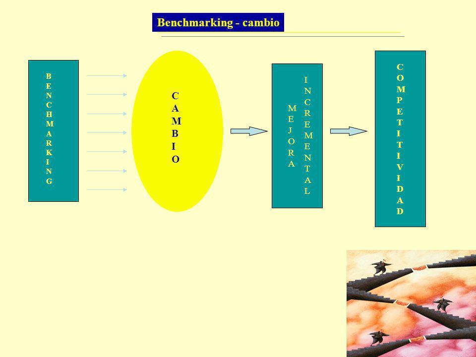 Benchmarking - cambio C A M B I O C O I M N P E C T R I E M M E V J O