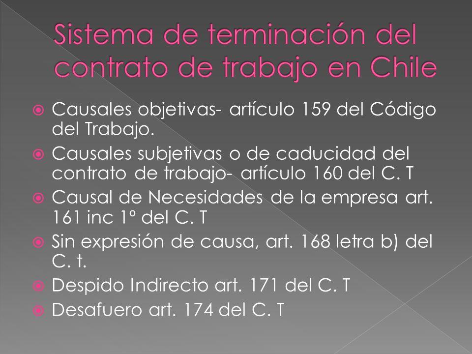 Sistema de terminación del contrato de trabajo en Chile