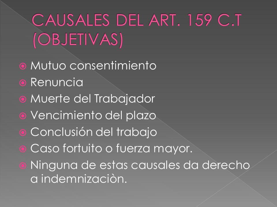 CAUSALES DEL ART. 159 C.T (OBJETIVAS)