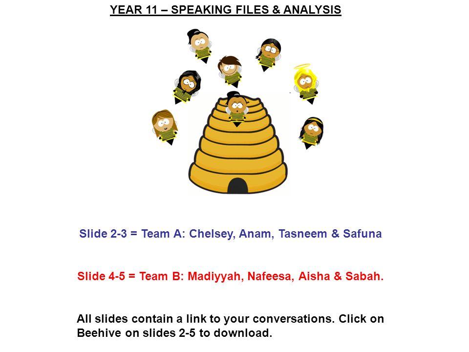 Slide 4-5 = Team B: Madiyyah, Nafeesa, Aisha & Sabah.